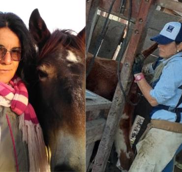 """Mujeres que trabajan en el campo haciendo """"tareas de hombres"""": Paz Acevedo Miño y Mery Alfonso"""